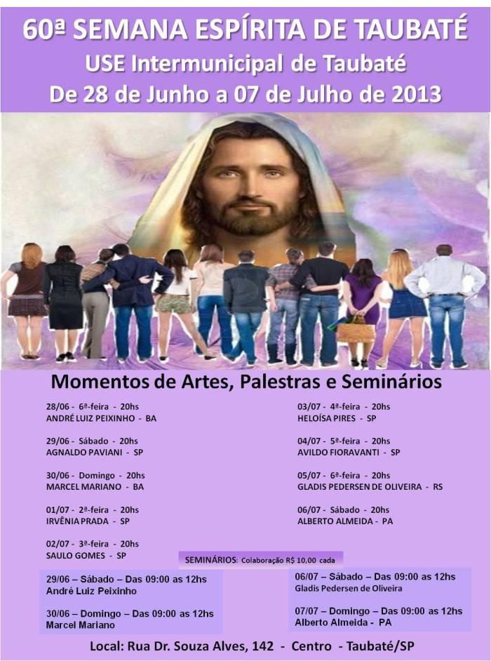 Cartaz da 60ª Semana Espírita de Taubaté