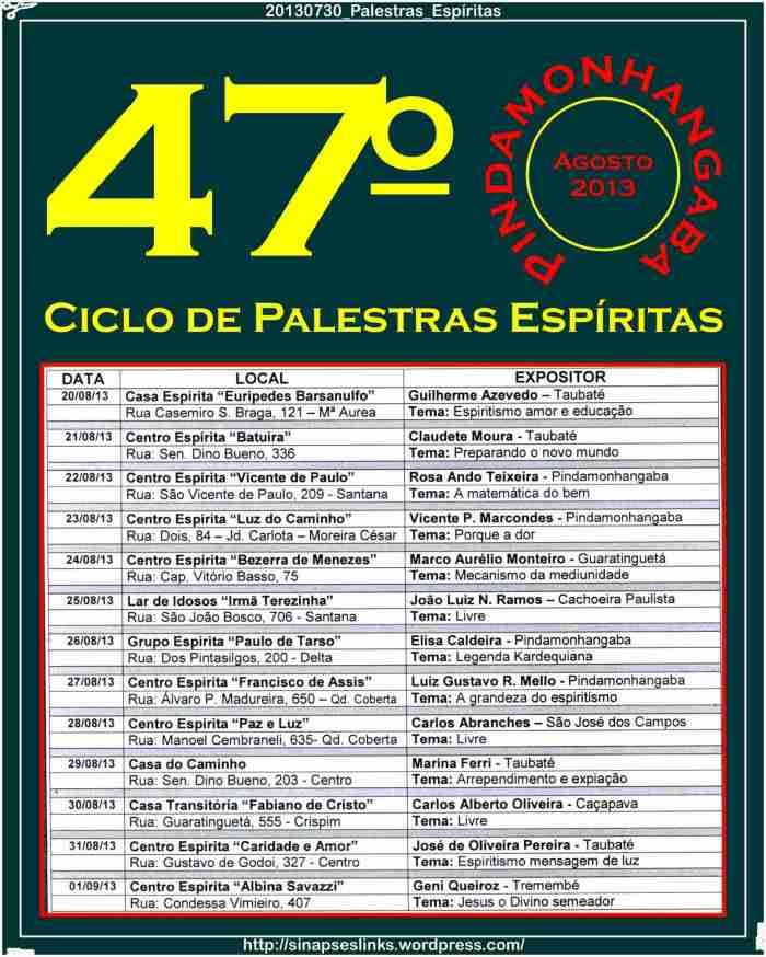 20130730_Palestras_Espíritas