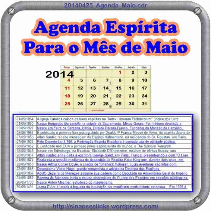 Calendário para Maio