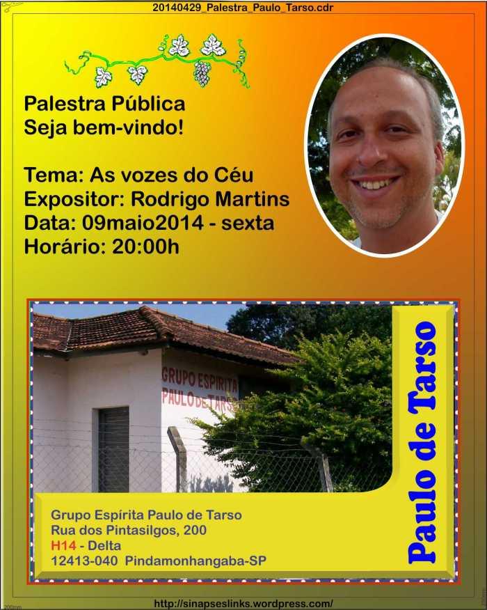 Palestra no Paulo de Tarso