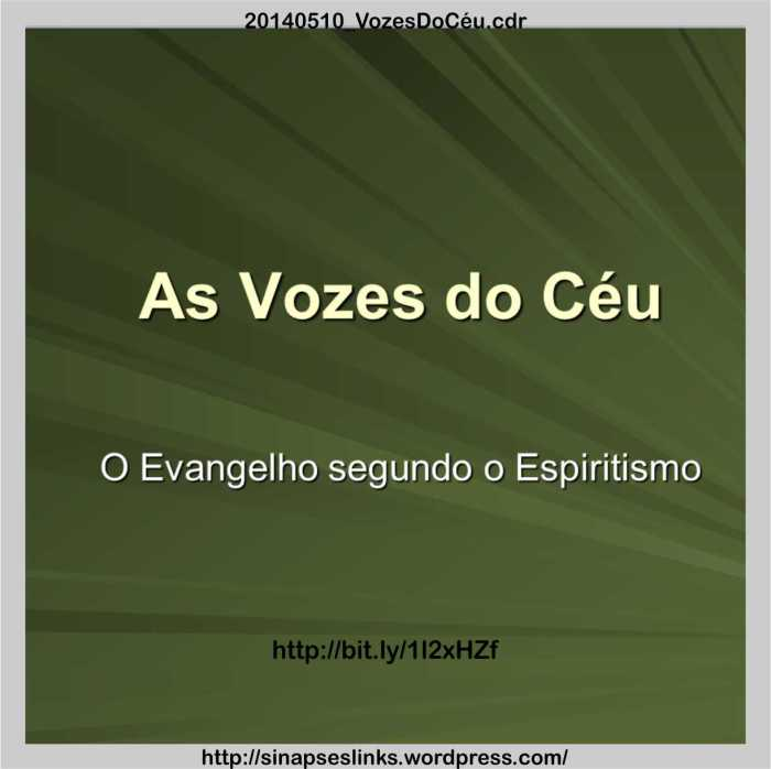 As Vozes do Céu - ppt