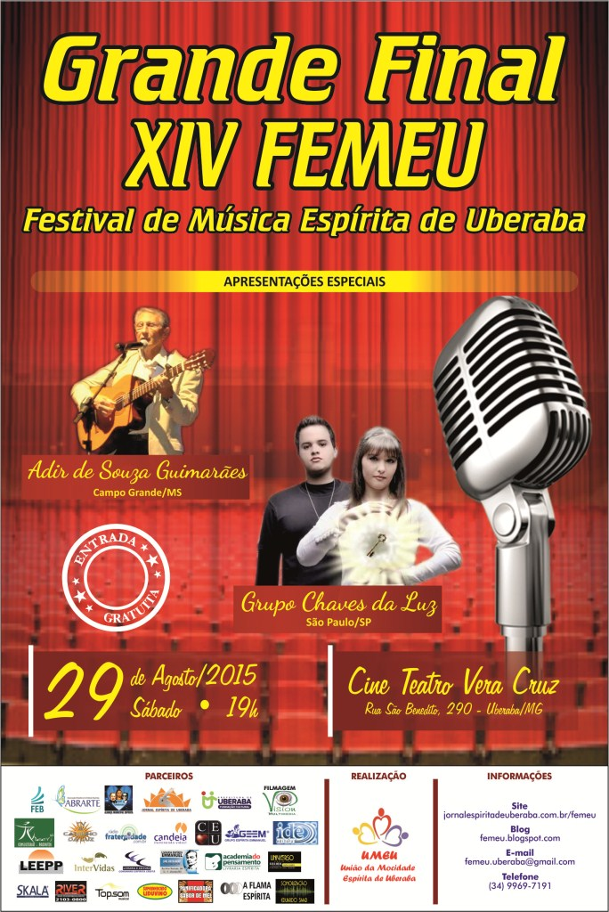 CARTAZ GRANDE FINAL DO XIV FEMEU